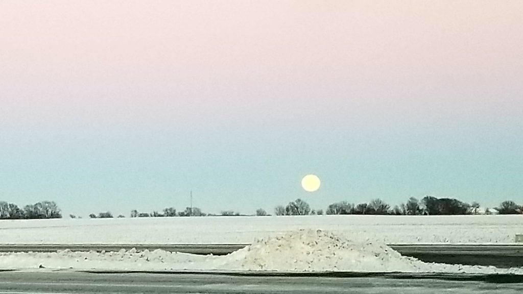 Super Moon rises in Urbana, Jan 1st 2017