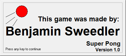 This game was made by Ben Sweedler