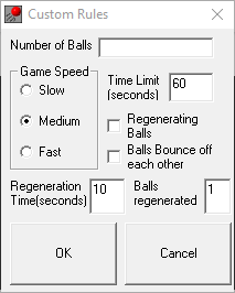 UI for setting custom rules